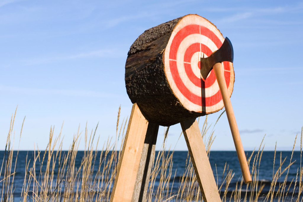 Bullseye Axe Throwing, Axe Throw Activity